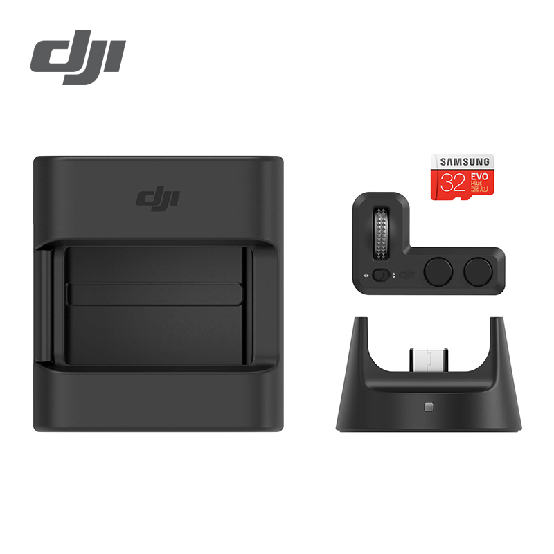 DJI Osmo Expansão Bolso Kit Incluindo Roda Controlador e Módulo Sem Fio e Acessórios de Montagem e 32 GB Cartão microSD