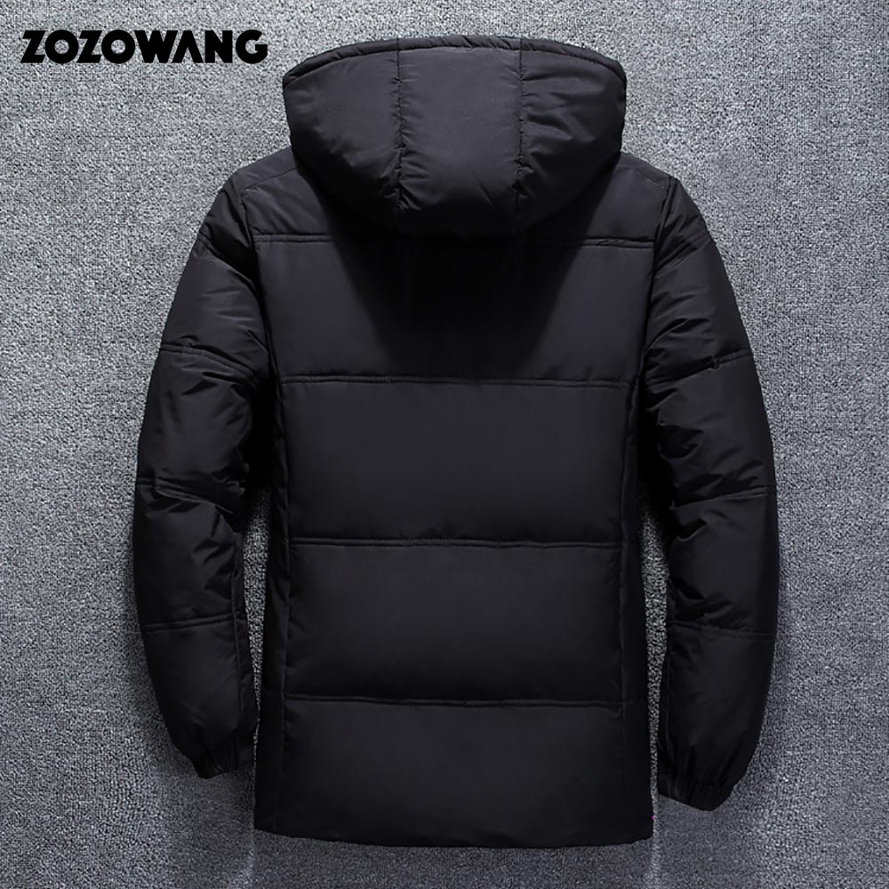 Image 5 - ZOZOWANG High Quality White Duck Thick Down Jacket men coat Snow parkas male Warm Brand Clothing winter Down Jacket Outerwear-in Parkas from Men's Clothing