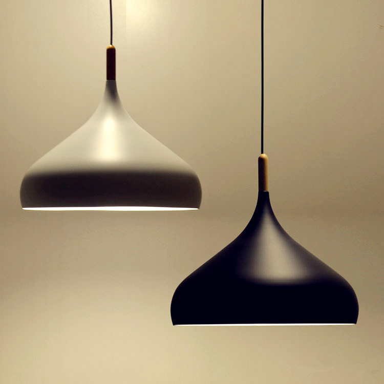 Beautiful White Black Chandelier Light Fixture Aluminum