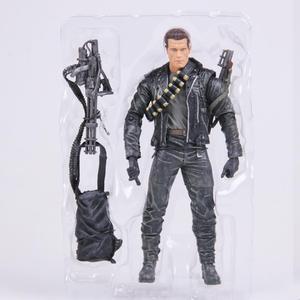 Image 2 - Classic Movie Arnold Schwarzenegger Bambola NECA Terminator 2 T800 Cyberdyne Showdown Modello di Azione del PVC Figure Toy 18 centimetri