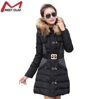2015 New Fashion Women Winter Jacket Outwear Down Cotton Parak Free Ship Slim Coat YL1182