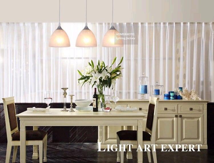 Sospensione lineare lampade contemporanea moderna sala da pranzo