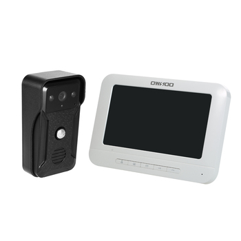 OWSOO 7 przewodowy wideodomofon Monitor z IR-CUT, odporny na deszcz, widzenia kamery dwukierunkowy domofon Audio zdalnego odblokowania drzwi wideo telefon