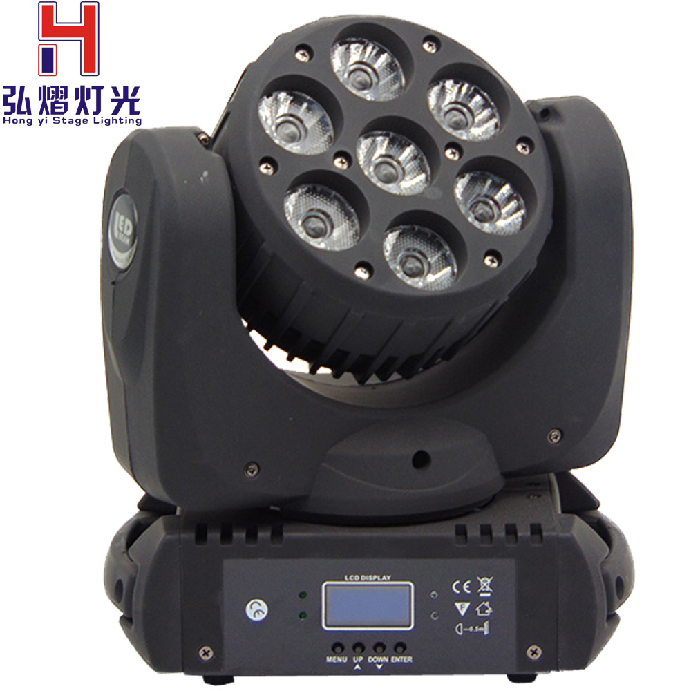 LED перемещение головы луч света RGBW 4 в 1 DMX дискотека клуб паб показать группа 7x12 Вт