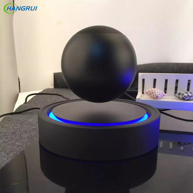 HANGRUI Magnetic levitation floating speaker Wireless bluetooth Loudspeaker NFC Maglev Music Player rotating 360 degree speakers купить