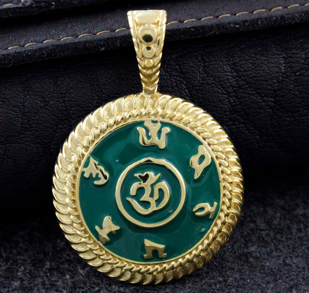 Om Mani Padme Hum AUM Hindu OM Brahman YOGA Yogi Pendant Jewelry