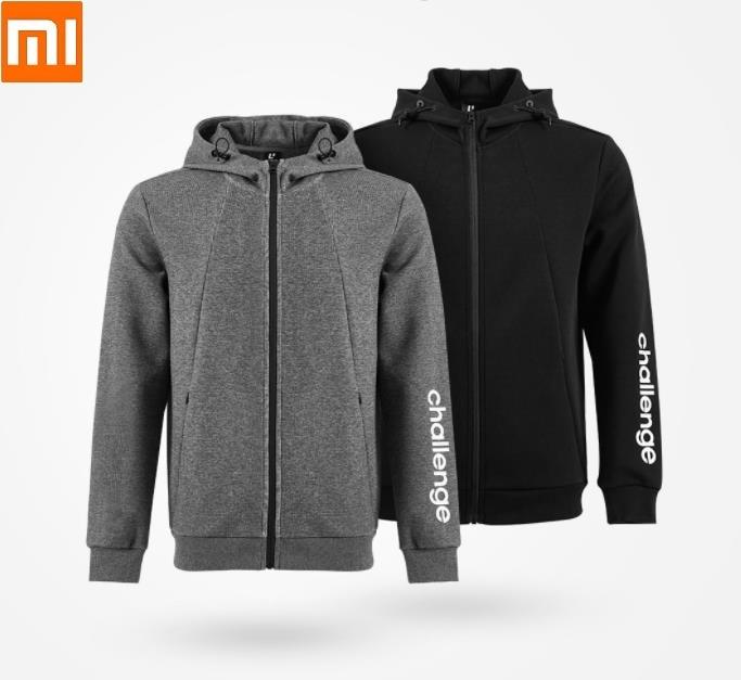 Xiaomi ULEEMARK Men Sports Cardigan Hooded Sweatshirt fashion printing Logo Cotton sportswear Fashion coat New