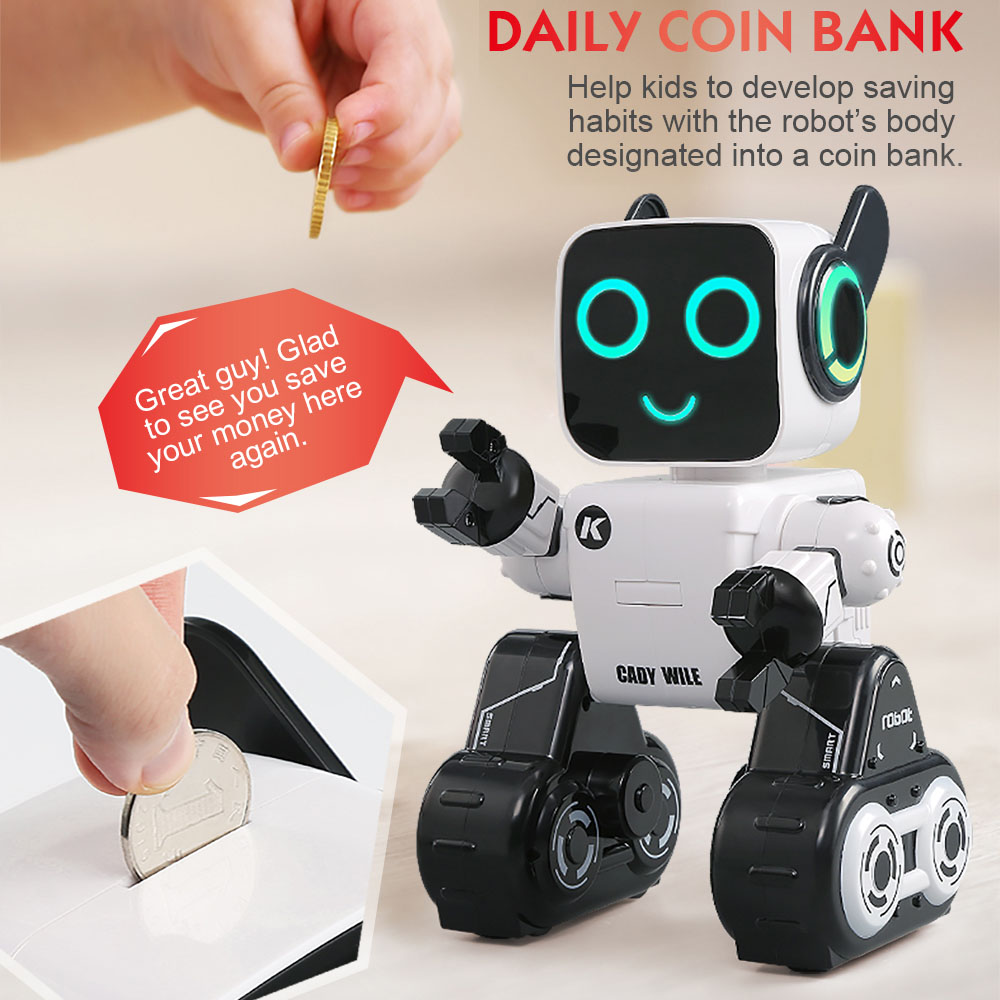 New boy&girl smart electric robot RC Remote Control Interactive Sing Dance Robot Coin Bank with sound RC Ball kid gift boy toy cool funny bomb shape coin bank w sound
