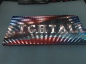 Image 1 - Outdoor 320*160mm 32*16 pixels 3in1 SMD 1/4 scan RGB P10 full color LED module voor reclame media LED Display