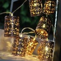 Jiaderui LED Retro Round Lantern 3 X AA Holiday Lighit LED Fairy String Christmas Lights Xmas