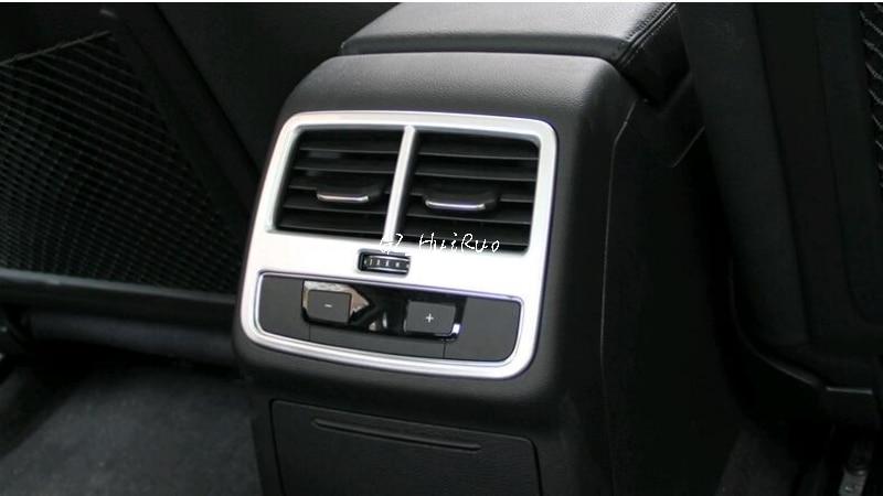 Rear Air Condition AC Vent Outlets Frame Cover For Audi A4 Sedan B9/9L 2016-2017 bsg fv21811gtn 51 1995 nissan altima 4 door sedan rear driver vent green tint auto glass