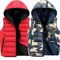 Fashion Men's Vest Winter Men Camouflage Hooded Vest Male Sleeveless Waistcoat Jacket And Coat Warm Coat