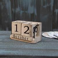 ZAKKA Furnishing Articles Manually Small Desk Calendar Calendar Household Daily Log Log Combination