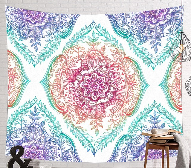 Image 2 - CAMMITEVER Space Starry Sky Starlight Tapestry Wall Hanging Multifunctional Tapestry Boho Printed Bedspread Cover Yoga Mat-in Tapestry from Home & Garden