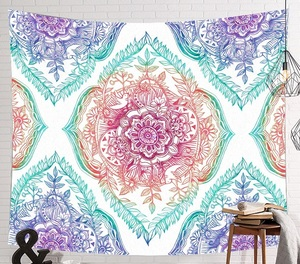 Image 2 - CAMMITEVER Space Starry Sky Starlight Tapestry Wall Hanging Multifunctional Tapestry Boho Printed Bedspread Cover Yoga Mat