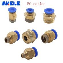 PC series Pneumatic connector straight through external thread PC04/06/08/10/12/14/16 brass pipe and pneumatic fitting
