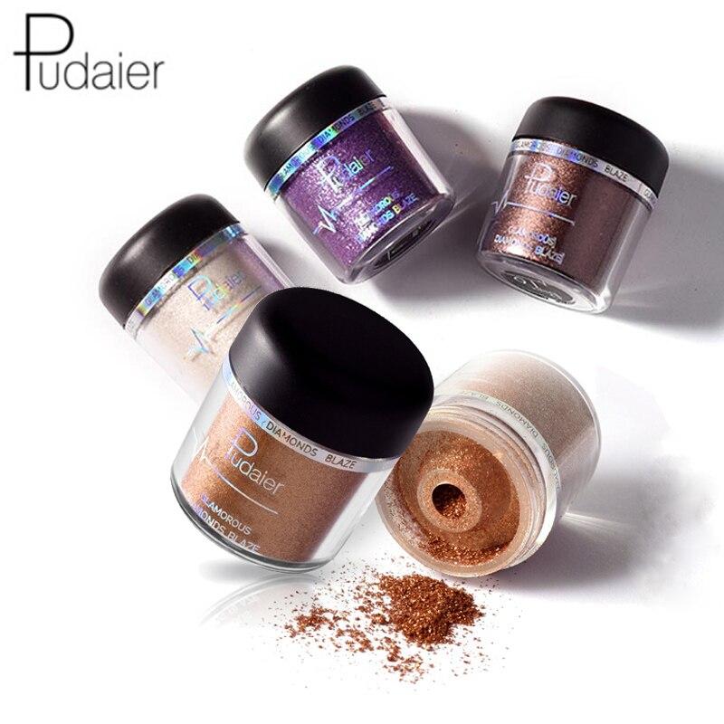 Beauty & Health 2017 New Professional Glitter Shiny Eyeshadow Powder Waterproof Highlighter Pigment Smoky Warm Eye Shadow Beauty Pudaier Makeup Eye Shadow
