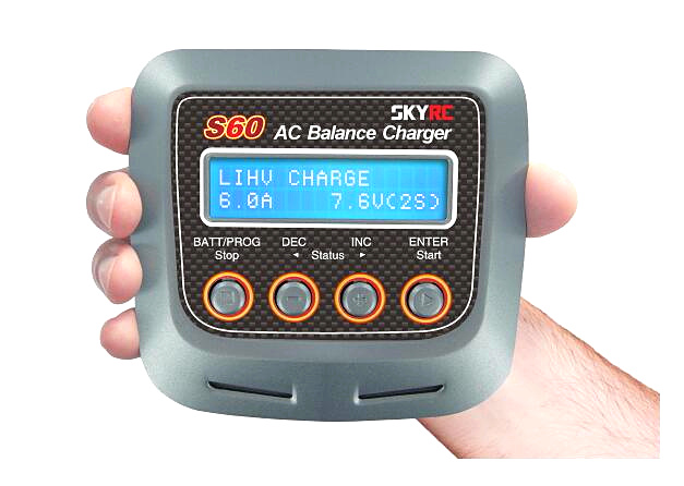 SKYRC S60 60W AC Balance Battery Charger Discharger skyrc sk 800084 01 b6 mini 6a 60w dc11 18v professional balance charger discharger w t 2 6lcd
