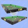 Giant Pool Table Soccer, Mesa de Snooker Piscina Inflável, Snookball Piscina inflável bola de Futebol De Mesa com 16 pcs de robalo