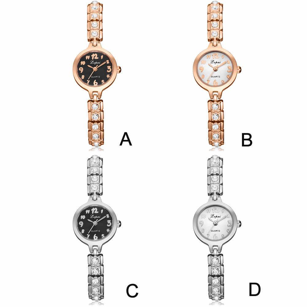 2018 gorąca sprzedaż LVPAI zegarka kobiet zegarki luksusowy kryształ bransoletka z diamentami ze stali nierdzewnej kwarcowy na rękę sukienka damska zegar