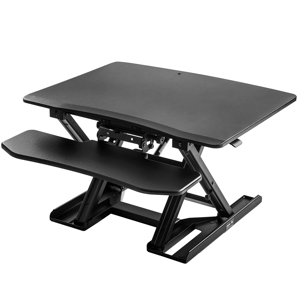 Modern Luxury Adjustable Sit-Stand Desk Laptop Desk Height Adjustable Standing Desk Black Elevating Desktop Workstation