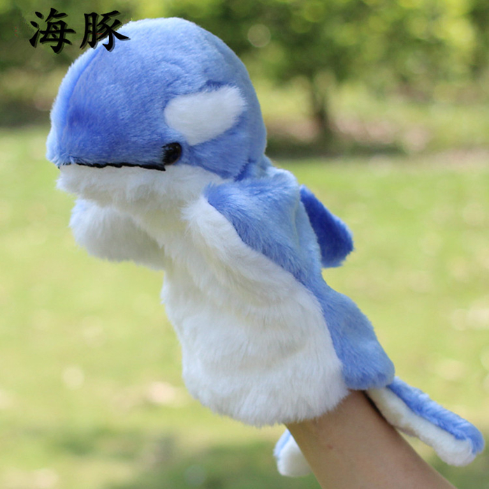 Plush childrens toys Hand Puppet Dolphin doll Big Finger Toys Whale Gifts