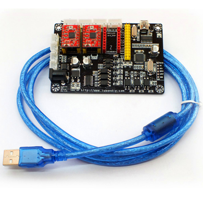 USB Laser 2 Axis Stepper Motor USB Driver Board Controller V5 DIY Laser Engraver Control Board,adjust Power, Support PMW