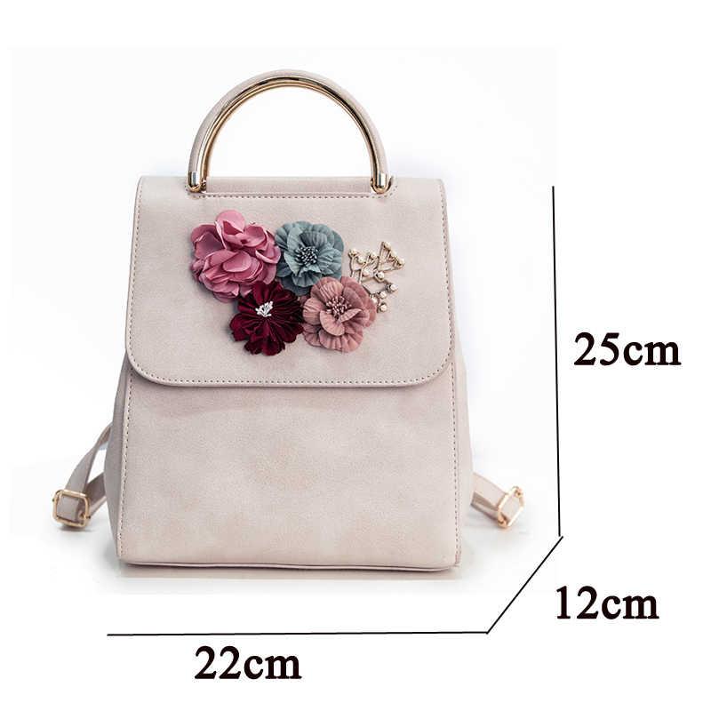 Daunavia 2019 женский рюкзак из искусственной кожи женский японский и корейский стиль тренд трехмерный цветок женский рюкзак