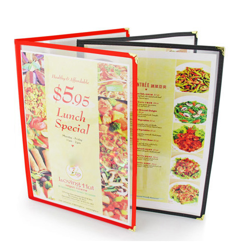 Free Shipping Restaurant Menu Covers 29 7 21cm Double Fold Cover Double Stitched 12 Pack