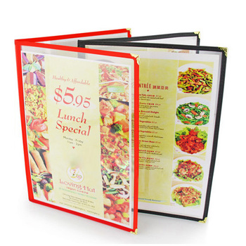 Free Shipping Restaurant Menu Covers - 29.7*21cm- Double Fold Cover - Double Stitched, 12/Pack