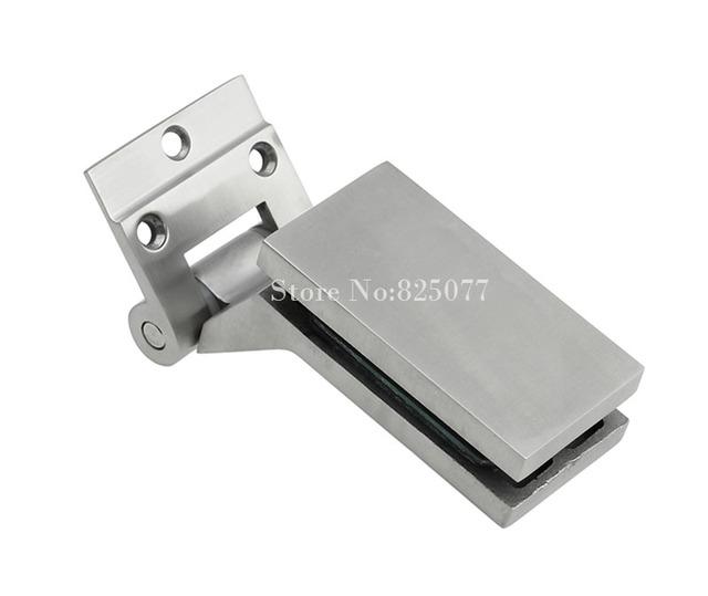 Envío Libre 304 de Acero Inoxidable accesorios partición oficina Muebles de baño Abrazadera de Cristal bisagra HM136