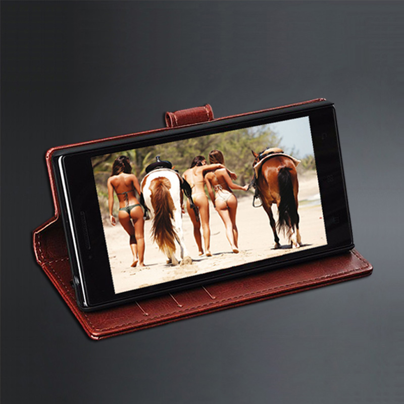 Funda Huawei P8 lite 2017 Crazy horse Funda Huawei P9 Lite 2017 Cuero - Accesorios y repuestos para celulares - foto 3