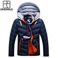 Chaqueta de invierno para hombre, sombrero desmontable, abrigo de algodón acolchado, abrigos para hombre, chaquetas con capucha, cuello, ropa delgada, Parkas gruesas x327