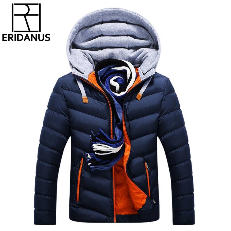 Winter Jacke Männer Hut Abnehmbare Warme Mantel Baumwolle-Gepolsterte Outwear Herren Mäntel Jacken Mit Kapuze Kragen Dünne Kleidung Dicke Parkas x327