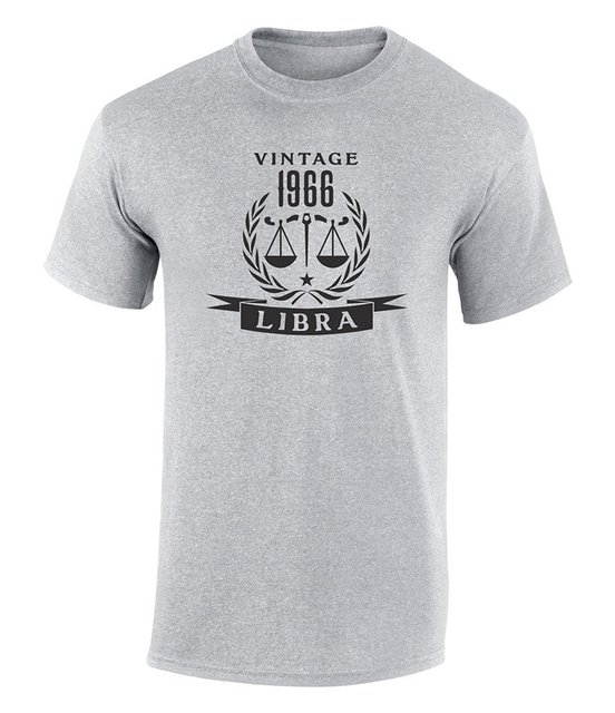 2018 Summer New Brand T Shirt Men Hip Hop Casual Fitness Happy 50th Birthday Gift 1966 Libra Zodiac Sign