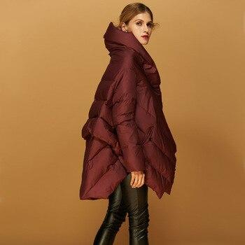 2016 Winter Jacket women down jackets women's down coat high quality thickening loose Parka medium-long cloak fashion outerwear
