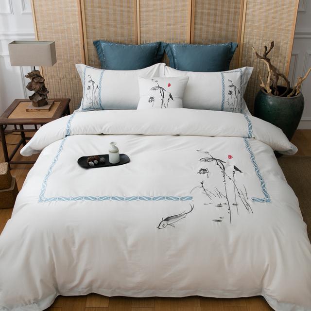 Silver Luxury Egyptian Bedding Set
