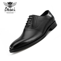Handmade Vintage Luxury Brand Wedding Party Dress Dance Exclusive Footwear Genuine Leather Flat Mens Derby Shoes Euro Size 38 44