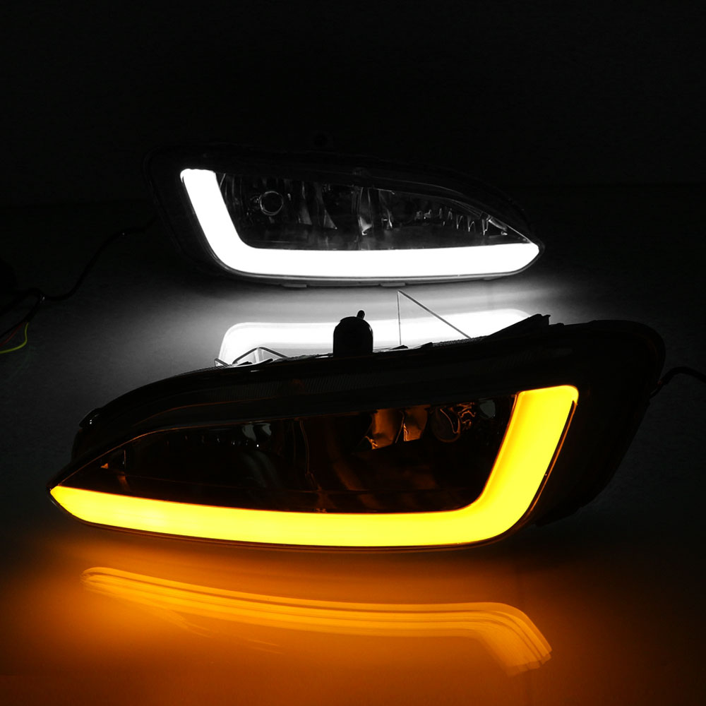 Daytime Running Light DRL for Hyundai Santa fe 2013 2014 2015 Left Right side White DRL Yellow Turning Signal Light waterproof seintex 85749 hyundai santa fe 2013 black