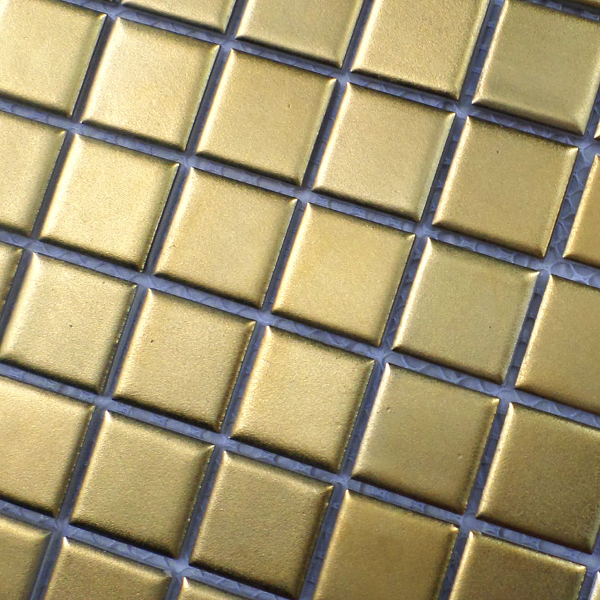 New Arriival Gold Ceramic Mosaic Tile Kitchen Backsplash Tile