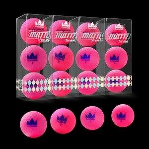 Image 5 - ¡Artesano 12 Uds. Pelotas de Golf mate acabado de larga distancia 2 piezas mate bolas de Golf 12 Paquete de bolas de color mate nuevo!