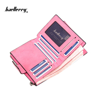 Candy Colors Brand Short Wallets Women Dull Polish PU Leather Wallets Zipper Coin Pocket Female High