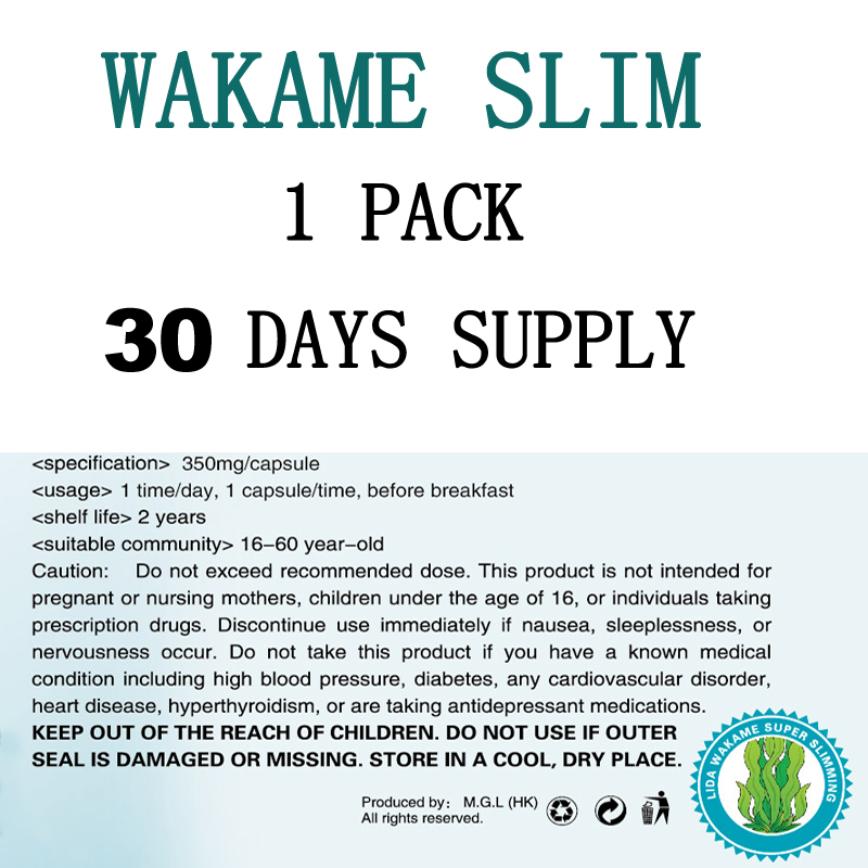 (BUY 3 to get 1 more for free ) Free shipping NEW FORMULA original wakame 30  for Fast weight loss самокат globber my too one k180 цвет красный 499 112