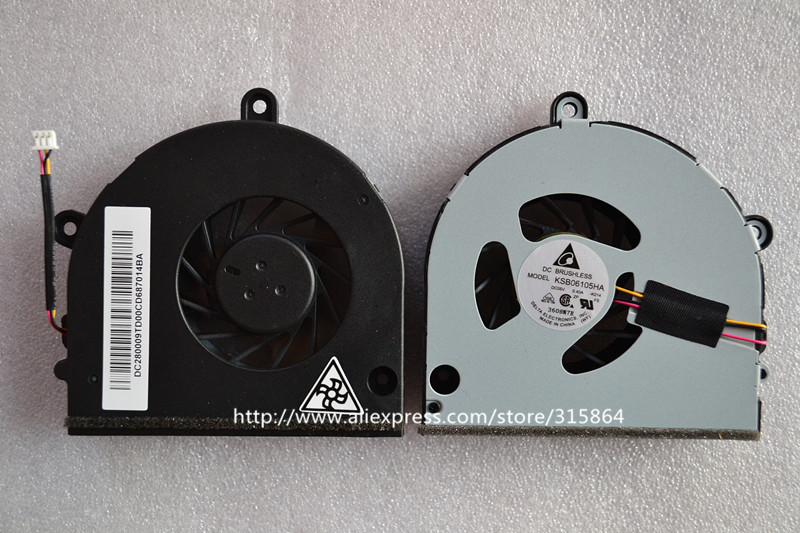 New CPU Cooling fan for <font><b>Toshiba</b></font> <font><b>Satellite</b></font> <font><b>P750</b></font> P750D P755 P755D L675D L670 C660 A660 A665D A665 A665D Series KSB06105HA image