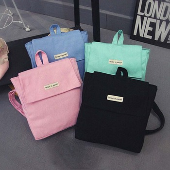 Women Backpack New Fashion Casual Canvas ladies feminine backpack for teenage girls travel school bag solid mini Small backpack Fashion Backpacks