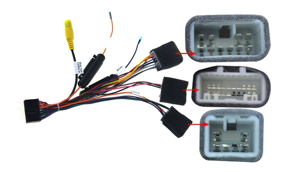 Special wiring harness for Toyota universal ISO harness car radio power adaptor power cable