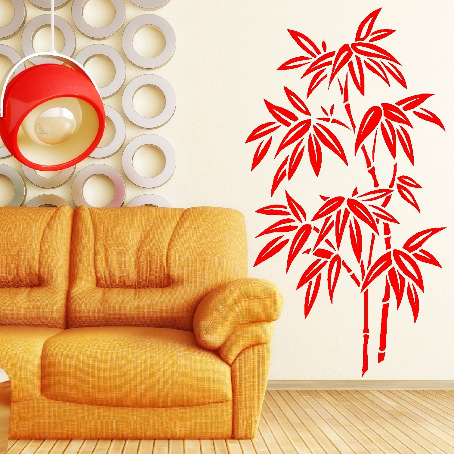 OS1673 CHINESE BAMBOO TREE WALL ART ROOM STICKER DECAL STENCIL FREE ...