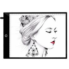 A4 Digital Drawing Graphic Tablet 3 Type Dimming Modes LED Tracing Copy Board Painting for Children Kids