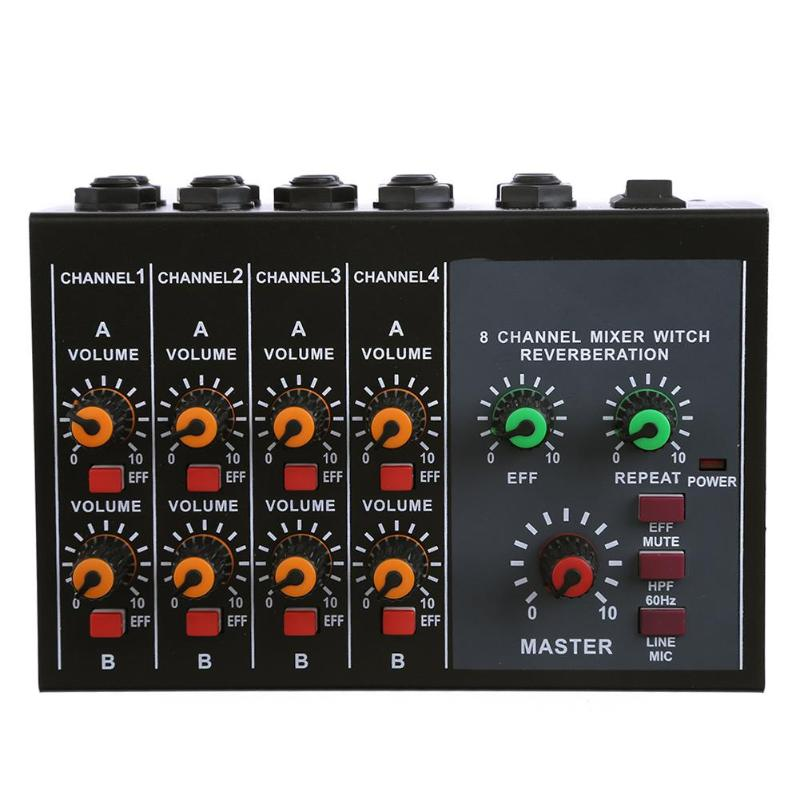ALLOYSEED 6.3mm Single Channel Microphone Audio Mixer Karaoke Sound Mixing Amplifier with external power supply