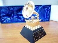 Grammy Award граммофон изысканный сувенир музыка трофей из цинкового сплава хороший подарок награда для музыкального конкурса Бесплатная доста
